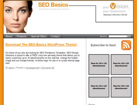 The SEO Basics Optimized WordPress Theme
