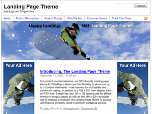 Screen Shot of Happy Landings - Landing Page Theme!