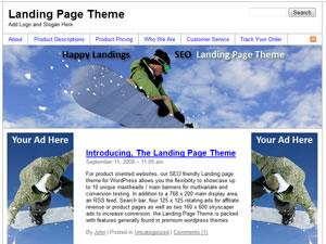 Screen Shot of Happy Landings - Landing Page Theme!