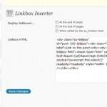 Screen Capture of SEO Ultimate Linkbox Inserter Module