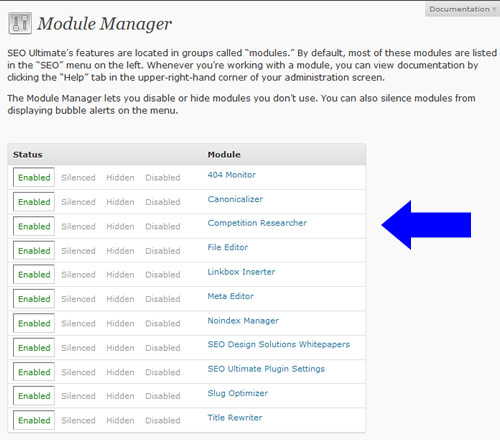 SEO Ultimate Module Manager