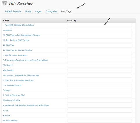SEO Ultimate Post Tags Rewriter Tab