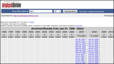 The wayback machine internet archive