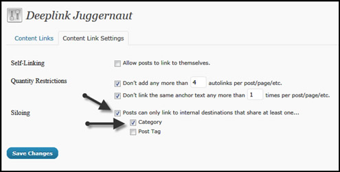 Deeplink Juggernaut Silo Feature