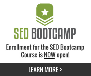 Enrollment for SEO Bootcamp is Now Open