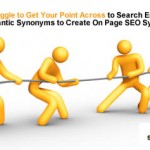 Using LSI Based Synonyms for On Page Semantic Relevance