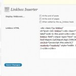 Screen Capture of SEO Ultimate Linkbox Inserter Module