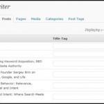 SEO Ultimate Bulk Title Editor
